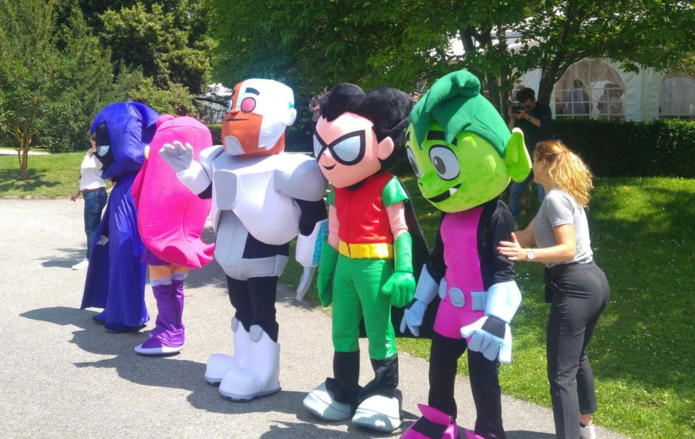 Mascottes Teen Titans