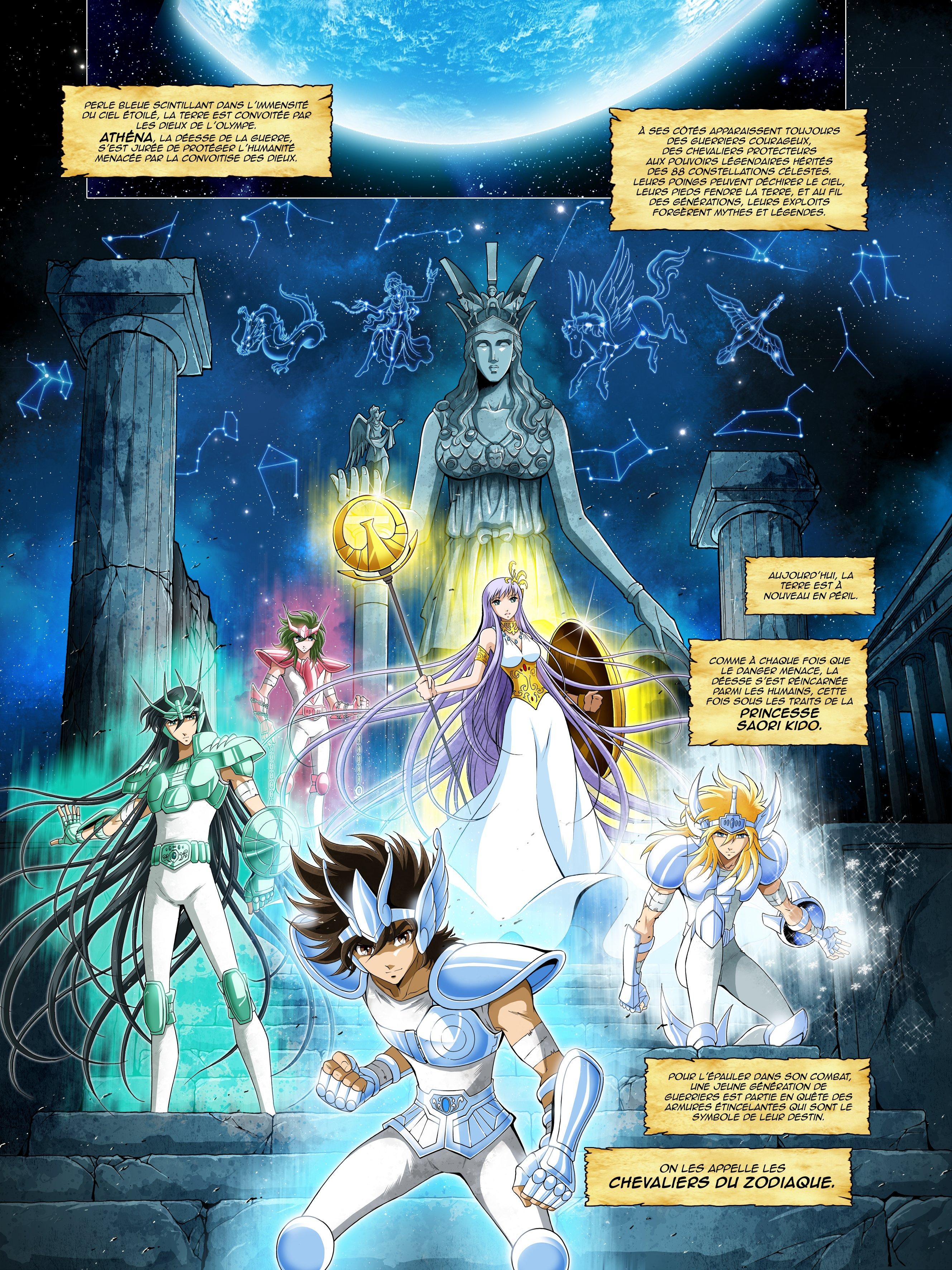 Kana, a annoncé la sortie en 2022 d'une BD originale Saint Seiya, les Chevaliers du Zodiaque. Signé Jérôme Aquilé et Arnaud Dollen,